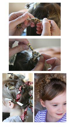 rag curl tutorial for little girls. cute!
