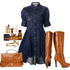 Nice Alexander McQueen Dress Mcq By Alexander Mcqueen Blue Denim Shirt Dress Blue Denim Shirt, Denim Shirt Dress, Denim Outfit, Denim Dresses, 21 Dresses, Dress Outfits, Denim Fashion, Look Fashion, Autumn Fashion