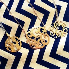 Monogrammed necklaces
