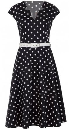You will turn the head of everyone you pass in the Polka Dot Flare Dress in Black!