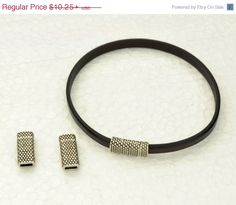 25% OFF 5MM Beaded Magnetic Clasp  - Antique Silver -  For use with cord up to 5MM