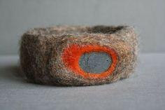 orange stone cuff  - red2white