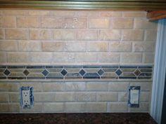 slate mosaic border 3x12 glass tile home mosaics