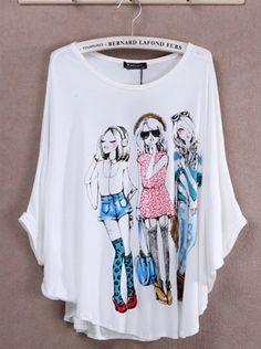 white short sleeve round neck cotton T-shirt