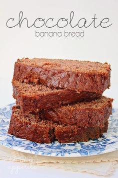 Chocolate Banana Bread. Adding a little cocoa makes this bread extra delicious