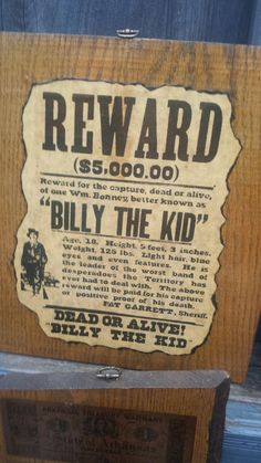 Billy The Kid, Dalton Bros., Arkansas, Wall Plaques, Old Country, Wild West…