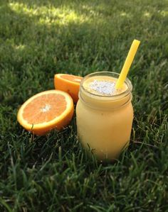 Rise and Shine Smoothie 3 cups Almond or Coconut Milk I prefer almond 2 Ripe Bananas peeled 1-1/2 Seedless Navel Oranges peeled and sectioned 2-1/2 cups Frozen Mango Chunks Shredded Coconut optional, for garnish INSTRUCTIONS Place all ingredients in a Blender (excluding shredded coconut). Blend. Pour into glasses, garnish with shredded coconut, if desired, and enjoy.
