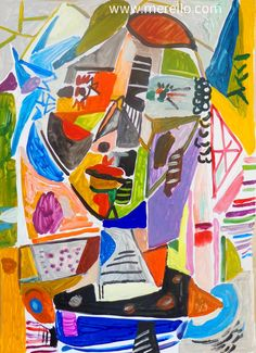 Jose Manuel Merello.-Catalina Mix media. Spain artists painters. Modern art. Surrealism and expressionism