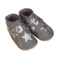 Starchild chaussons cuir rock star gris by the green dressing