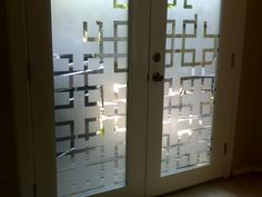 Easy tape grid pattern and frosted glass spray paint ($10!)