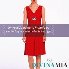 Tip de Moda: Para disimular la barriga y lucir más delgada, utiliza un vestido de corte imperio (el corte justo debajo del pecho). Lucirás divina.