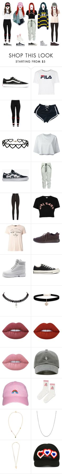 """""""[ dance practice ] G-3 _ MY LOVE"""" by xxeucliffexx ❤ liked on Polyvore featuring Vans, Fila, Givenchy, My Mum Made It, Miss Selfridge, Puma, Balmain, River Island, Dorothy Perkins and adidas Originals"""
