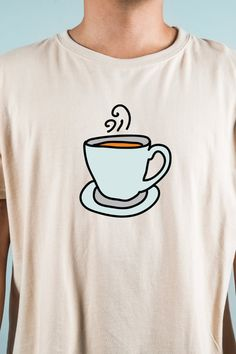 This Coffee Mug T Shirt is elegant, unique amd really soft. The best shirt for any coffee lovers! Click the link to see more. Custom Tee Shirts, Cool Shirts, Coffee World, Coffee Accessories, Unique Coffee Mugs, Coffee Lovers, Shirt Style, Shirt Designs, T Shirt