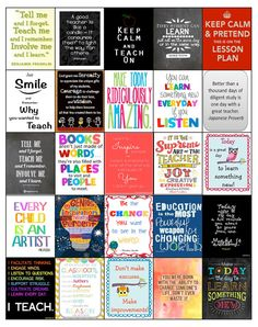 Teacher Quotes for Erin Condren Life by PlannerCandyDesigns