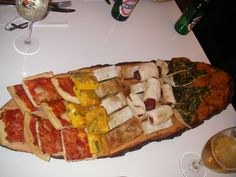 A snack in Bologna. December 2013.