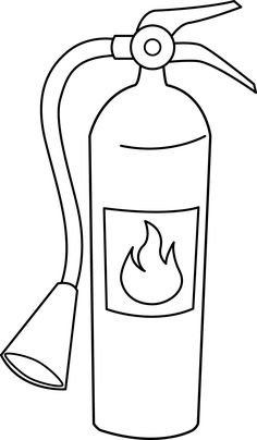Fire Extinguisher Line Art - Free Clip Art