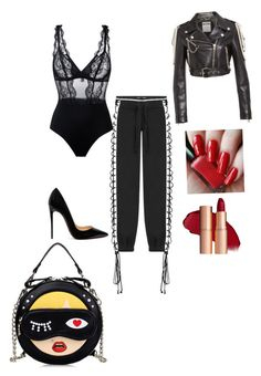 """Kim K makeover"" by domstyle on Polyvore featuring Puma, Christian Louboutin, La Perla and Moschino"