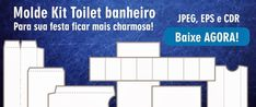 Moldes do Kit Toilet Completo para Banheiro! - Bruno Di Souza