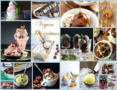 Amazing vegan ice cream round up vol. A collection of the yummiest vegan ice creams ever! Vegan Dinner Recipes, Good Healthy Recipes, Delicious Vegan Recipes, Vegan Dinners, Vegan Desserts, Whole Food Recipes, Yummy Food, Vegan Food, Types Of Vegans