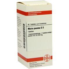 MUIRA PUAMA D 3 Tabletten:   Packungsinhalt: 80 St Tabletten PZN: 02633985 Hersteller: DHU-Arzneimittel GmbH & Co. KG Preis: 5,95 EUR…
