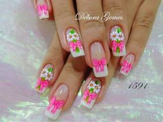 Get free high quality hd wallpapers unhas decoradas com flores Toe Designs, Nail Art Designs, Hair And Nails, My Nails, Bath And Beyond Coupon, Manicure And Pedicure, Gel Manicures, Coloring Pages For Kids, Cute Nails