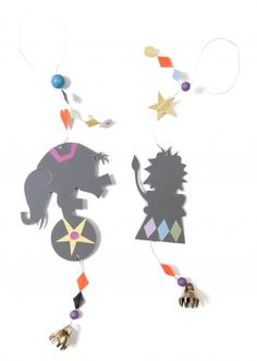 Circus animals - elephant & lion