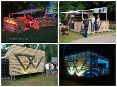 """The Cocktail Bar & The """"Chill Area"""" #Festival, #PalletBar, #RecycledPallet"""