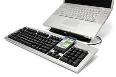 The One Keyboard for iPhone and PC or Mac http://softwarelint.com/