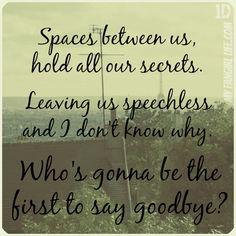 spaces one direction lyrics