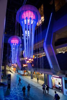 The Grand Jellyfish Chandeliers & Aquatic Light Sculptures of the Vivid Sydney Lights Festival