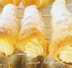 Tanya's Food Experience: Lemony Puff Pastry Cones