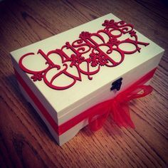 Christmas Eve Box to open on Christmas eve night (red for girls green for boys)… Christmas Eve Box For Adults, Night Before Christmas Box, Wooden Christmas Eve Box, Xmas Eve Boxes, Open On Christmas, 1st Christmas, Christmas Holidays, Christmas Cards, Christmas Boxes