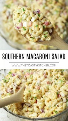 Southern Macaroni Salad - The Toasty Kitchen salad recipes Southern Macaroni Salad, Best Macaroni Salad, Simple Macaroni Salad, Classic Macaroni Salad, Macaroni Salads, Best Pasta Salad, Recipe For Macaroni Salad, Elbow Macaroni Recipes, Picnic