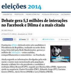 5.1 million interactions on Facebook following the first Presidential debate in Brazil