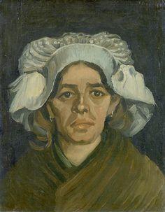 van Gogh - Head of a woman [1885] by petrus.agricola, via Flickr