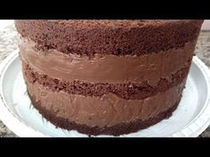 Bolos Naked Cake, Best Carrot Cake, Chocolate Spread, Cupcakes, Desserts To Make, Healthy Chocolate, Vanilla Cake, Frosting, Cake Recipes