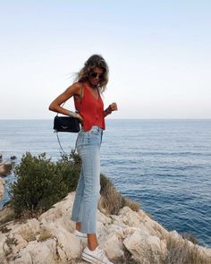 In this look Carla Ferrer wears clothes from Zara and Noon Spring Outfits, Trendy Outfits, Cool Outfits, Fashion Outfits, Europe Outfits Summer, University Outfit, Outfit Goals, Everyday Outfits, Photos