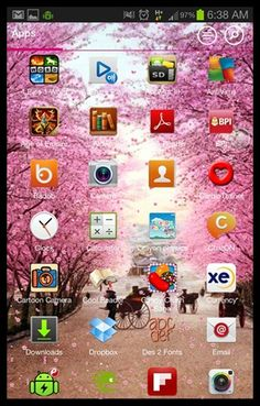 Pink Windows 8 Home Screen