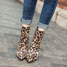 20032509459a Kvinnor Mocka Stilettklack Stövlar Halva Vaden Stövlar med Zipper skor  (088142490)