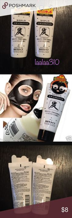 Charcoal Mask Peel off mask great for your pores and your skin. Leaves skin feeling soft after each Skin Care Regimen, Skin Care Tips, Peeling Maske, Face Mask For Spots, Charcoal Mask Peel, Skin Tightening Mask, Mask For Oily Skin, Daiso Japan, Make Up Anleitung