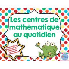 Centres de mathématiques au quotidien Learning Centers, Math Centers, Kids Learning, Daily 3 Math, Daily 5, Teaching Math, Teaching Resources, Math Rotations, Numeracy