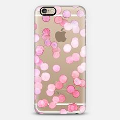 PINK WATERCOLOR DOTS ON TRANSPARENT Phone Case | iPhone 6 | Casetify | Graphics | Painting | Transparent  | Micklyn Le Feuvre Use code 6SP8GR to get $10 off your first order