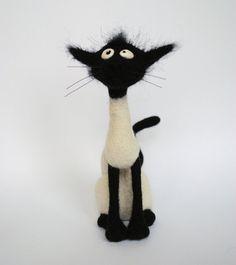 Needle Felted  Cat Solange  Hallmarks of Felinity  by katuasha, 45.00