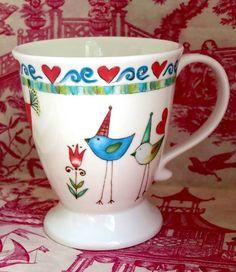 Magia pura Contemporary Decorative Pillows, Dream Drawing, Big Design, Teapots And Cups, Valentine Treats, Pottery Mugs, Ceramic Painting, Ceramic Mugs, Office Decor