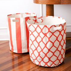Pehr Canvas Basket-Orange