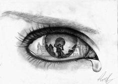 32 Ideas For Drawing Potlood Easy Sad Eyes Drawing Tumblr, Tumblr Drawings, Sad Drawings, Drawing Sketches, Pencil Drawings, Crying Eye Drawing, Sad Paintings, Crying Eyes, Eye Sketch