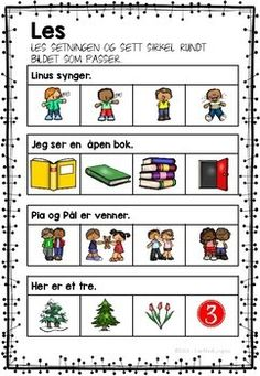 Jeg øver - lesing og skriving by LaerMedLyngmo Danish Language, Teacher Appreciation Week, First Grade, Kids And Parenting, Teaching Kids, Preschool, Writing, Education, Learning
