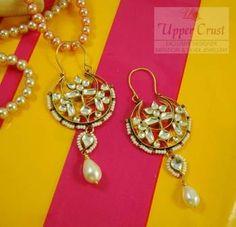 Buy this Exclusive kundan Bali Earrings only on Mirraw.com