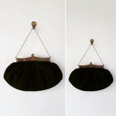 victorian handbag | antique handbag | victorian black handbag | by VivianVintage8 on Etsy