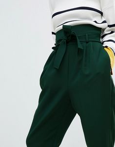 ASOS Tailored Super High Waist Balloon Tapered Trouser With Self Belt